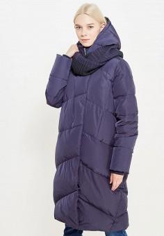 Пуховик, Tom Farr, цвет: синий. Артикул: TO005EWWUW09. Женская одежда / Верхняя одежда / Пуховики и зимние куртки / Длинные пуховики и куртки