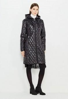Куртка утепленная, Twin-Set Simona Barbieri, цвет: черный. Артикул: TW005EWUMG40. Премиум / Одежда / Верхняя одежда