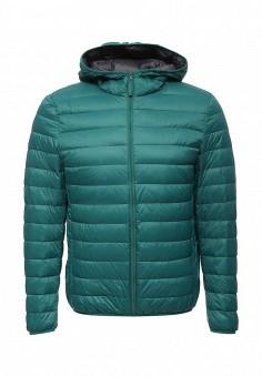 Пуховик, United Colors of Benetton, цвет: зеленый. Артикул: UN012EMVWV99. Мужская одежда / Верхняя одежда / Пуховики и зимние куртки
