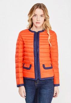 Пуховик, United Colors of Benetton, цвет: оранжевый. Артикул: UN012EWVXJ60. Женская одежда / Верхняя одежда / Пуховики и зимние куртки