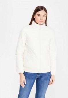Пуховик, United Colors of Benetton, цвет: бежевый, белый. Артикул: UN012EWWLY86. Женская одежда / Верхняя одежда / Пуховики и зимние куртки