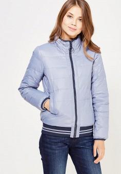 Пуховик, United Colors of Benetton, цвет: голубой, синий. Артикул: UN012EWWLZ26. Женская одежда / Верхняя одежда / Пуховики и зимние куртки