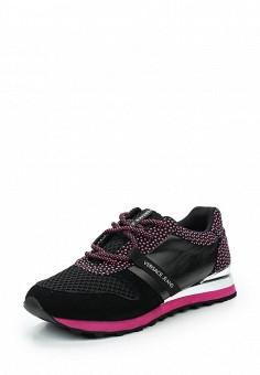 Кроссовки, Versace Jeans, цвет: черный. Артикул: VE006AWUBI42. Премиум / Обувь / Кроссовки и кеды