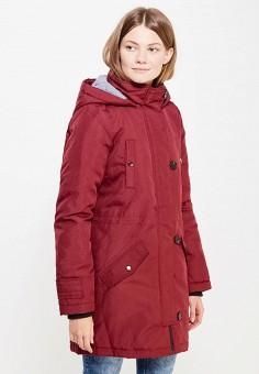 Парка, Vero Moda, цвет: бордовый. Артикул: VE389EWUJY35. Женская одежда / Верхняя одежда / Парки