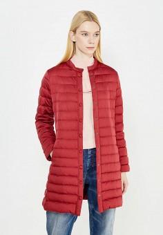 Пуховик, Weekend Max Mara, цвет: бордовый. Артикул: WE017EWTMH83. Премиум / Одежда / Верхняя одежда / Пуховики и зимние куртки