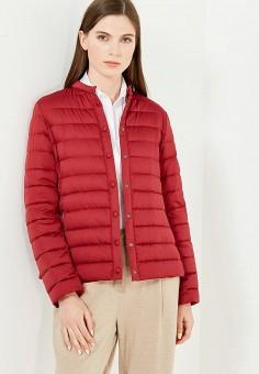 Пуховик, Weekend Max Mara, цвет: бордовый. Артикул: WE017EWTMH85. Премиум / Одежда / Верхняя одежда / Пуховики и зимние куртки