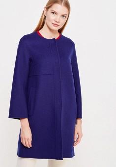 Пальто, Weekend Max Mara, цвет: синий. Артикул: WE017EWTMH94. Премиум / Одежда / Верхняя одежда