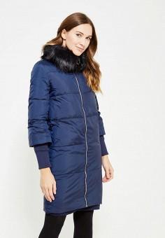 Пуховик, Zarina, цвет: синий. Артикул: ZA004EWXRM13. Женская одежда / Верхняя одежда / Пуховики и зимние куртки
