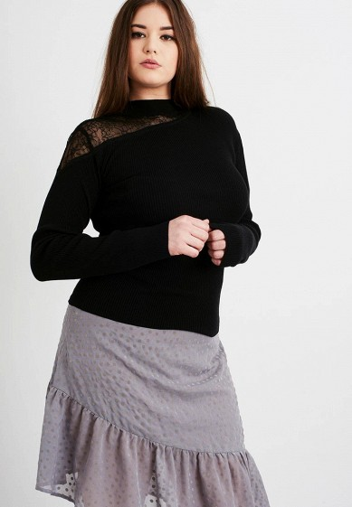 Джемпер LOST INK PLUS RIB JUMPER WITH LACE INSERT